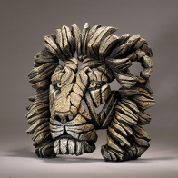 Buste de Lion Savane EDGE SCULPTURE
