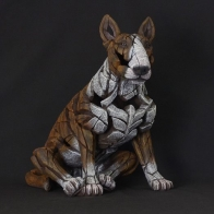 Bull Terrier EDGE SCULPTURE Rouge/blanc