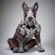 Bull Terrier EDGE SCULPTURE Tricolore