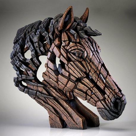 Buste de cheval EDGE SCULPTURE Brun