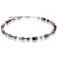 Collier GEOcube Rose mauve COEUR DE LION