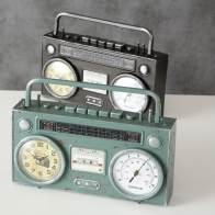 Horloge à poser radio cassette