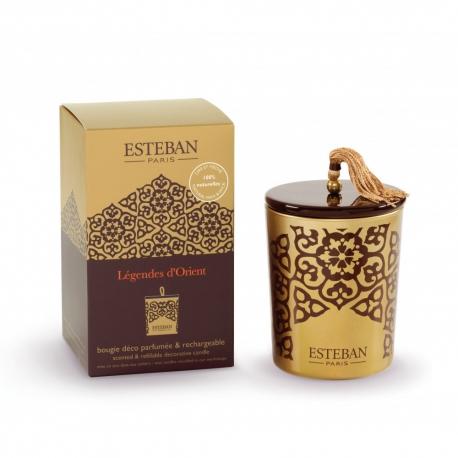 """Bougie déco parfumée rechargeable """"Légendes d'Orient"""" ESTEBAN"""