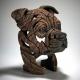 Buste Staffordshire Bull Terrier Brun