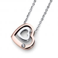 Collier Doubleheart OLIVER WEBER