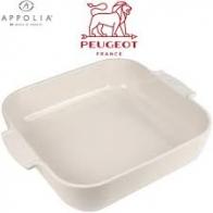 """Plat céramique carré 28cm rouge """"Appolia"""" PEUGEOT"""