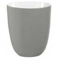 Vase ovale gris mat 28cm