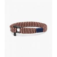 """Bracelet Sharp Simon Rose/Brun """"M"""" 18cm PIG & HEN"""