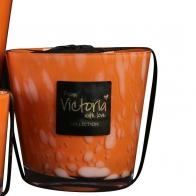 "Bougie ""M"" Dots orange VICTORIA"