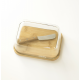 Set beurrier verre/bambou et son couteau