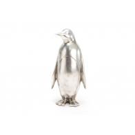 Figurine Pingouin argenté AMADEUS