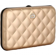 Porte-cartes QUILTED BUTTON Rose Gold ÖGON